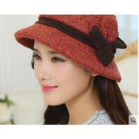 新款加厚护耳老人帽子女士保暖帽冬季老年人毛呢帽
