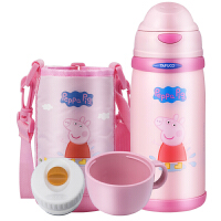 小猪佩奇儿童水杯 不锈钢防摔幼儿园宝宝水壶保温杯带吸管