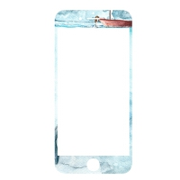 iphone6钢化膜苹果6plus手机彩膜7P卡通全屏覆盖日系少女边防摔 6/6s 鲸鱼少女