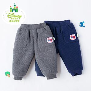 迪士尼Disney童装男童裤子秋冬新款宝宝加厚保暖外出休闲棉裤174K773