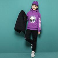 女童冬装套装2018新款女大童时髦洋气12秋冬款加绒加厚三件套15
