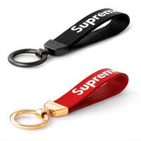 ?潮牌钥匙扣 supreme钥匙链 真皮钥匙环 挂件钥匙圈 情侣男女一对