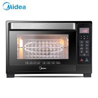 美的(Midea)电烤箱 T7-L325D 32L 多功能智能菜单 一键烘焙 简单易操作 双感温探头 低温发酵 独立控