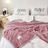 冬季加厚珊瑚绒毯子法兰绒毛毯学生单人宿舍保暖床上被子双层床单