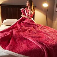 毛毯加厚保暖珊瑚绒毯子薄被子单人双人盖毯法兰绒冬季午睡毯床单