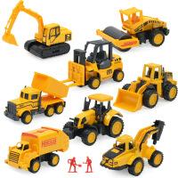 合金工程车玩具套装儿童滑行挖掘机斗车推土机男孩迷你小汽车模型