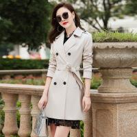 风衣女中长款2018秋新品韩版修身显瘦收腰矮个子双排扣大码外套潮