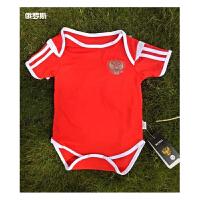 2018俄罗斯队世界杯足球服 BB装 婴儿连体装 婴儿足球服 国家队足球服 宝宝足球衣 红色