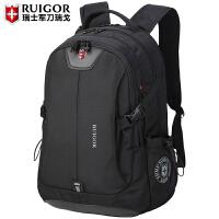 旅行背包休闲女时尚潮流中学生书包瑞士电脑包双肩包男士