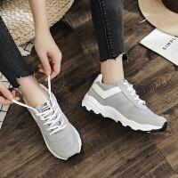 休闲鞋 女士厚底系带网布运动鞋2020秋季新款韩版时尚女式透气百搭休闲跑步板鞋女鞋子