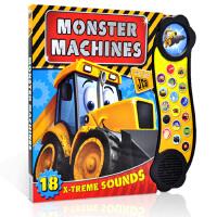 英文原版 Monster Machines 怪兽工程车 儿童科普奇趣玩具发声书