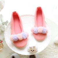 月子鞋春夏秋季可爱潮家居家卡通棉拖鞋包跟厚底产妇产后防滑软底