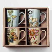手绘大容量马克杯创意咖啡杯陶瓷杯子早餐牛奶杯个性情侣家用水杯