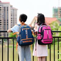 小学生书包1一3-4-6年级学生女男轻便背包男孩女生耐磨防水双肩包