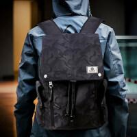 男时尚帆布男包旅行包 韩版迷你背包休闲双肩包 新款潮流学生书包电脑包