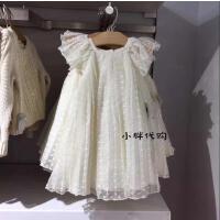 女童米白色高档纱纱公主连衣裙子 宽松韩版 夏季新款2-7岁