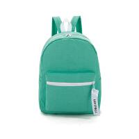 帆布包女日韩版潮学院风高中学生书包初中生旅行背包小清新双肩包 绿色