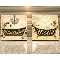 欧式铁皮画卫生间墙面壁挂件创意墙饰玄关墙上装饰品电表箱装饰箱