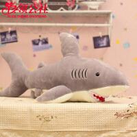 白领公社 儿童玩具 超大号大白鲨鲨鱼公仔创意男朋友女朋友男孩女孩卡通居家摆件抱枕创意礼品儿童生日礼物 毛绒玩具