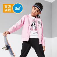 361度童装女童薄外套2021年春季新品上衣夹克时尚休闲外套功夫熊猫IP款N61913601