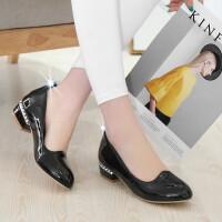 儿童高跟鞋女童黑色皮鞋2018春秋小女孩表演出鞋学生校鞋礼仪单鞋SN1718
