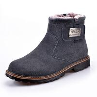 冬季男士雪地靴男马丁靴防水真皮保暖加绒加厚面包鞋男户外靴潮