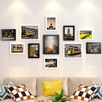 实木相框创意挂墙组合套装一面墙像框架九宫格背景墙上照片墙装饰 组合一套价(占墙约145x76cm)