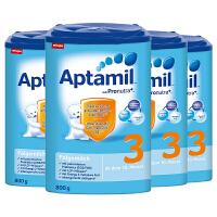 【19年3月3段普通】保税区发货 Aptamil爱他美 德爱婴幼儿奶粉 三段(10-12个月) 800g*4罐 海外购