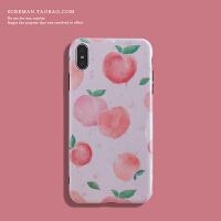 文艺水蜜桃iPhone6s/7/8plus手机壳苹果 max软壳潮女xr保护壳粉