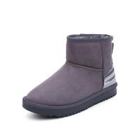 雪地靴女冬季2018新款短筒平底保暖棉鞋韩版低筒学生加绒短靴真皮