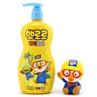 啵乐乐韩国进口宝宝沐浴露400ml加企鹅玩具套装