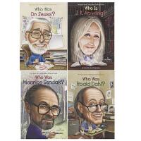 【首页抢券300-100】Who is Who was 系列人物百科绘本4册 儿童英语读物英文原版图书 名人传记 童书作