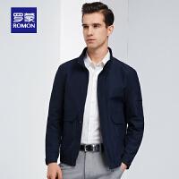 【2折到手价:197】男士短款夹克衫2020春季新款中青年商务休闲百搭简约立领外套