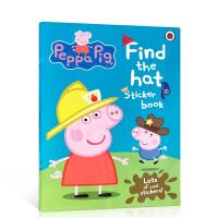 【全店300减100】小猪佩奇 找帽子贴纸书 英文原版 Peppa Pig: Find-the-hat Sticker