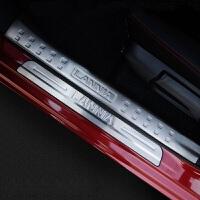 16款日产尼桑新蓝鸟门槛条不锈钢迎宾踏板内外置护板汽车改装