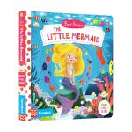 英文原版 First Stories The Little Mermaid 美人鱼 认知机关书 纸板操作活动主题书启蒙