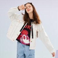 【1件5折到手价:139.5】美特斯邦威外套女2019秋季新款韩版舒适潮流衬衫领女士牛仔外套