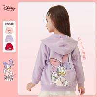 【4折�A估�r:83.9元】迪士尼女童�B帽外套2021春�b新款卡通�r尚�和�洋�馔��b上衣潮