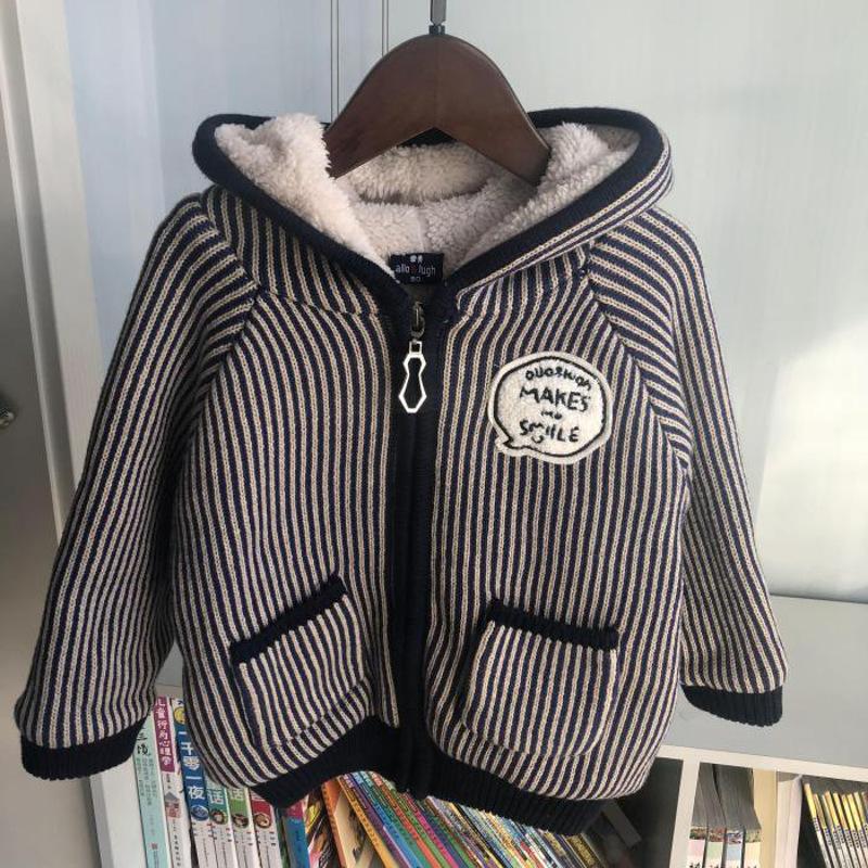 2018秋冬款韩版童装男童纯棉线毛衣加绒加厚开衫外套女宝儿童棉衣 预售ALOOOO毛线 发货周期:一般在付款后2-90天左右发货,具体发货时间请以与客服协商的时间为准