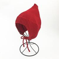 婴儿帽子秋冬季6-12个月护耳儿童针织帽冬天男女宝宝毛线帽1-2岁 均码