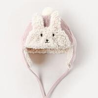 婴儿帽子秋冬季儿童护耳帽男童女童帽新生婴幼儿宝宝雷锋帽冬天潮 S码 (建议43-46头围 年龄3个月-1岁)