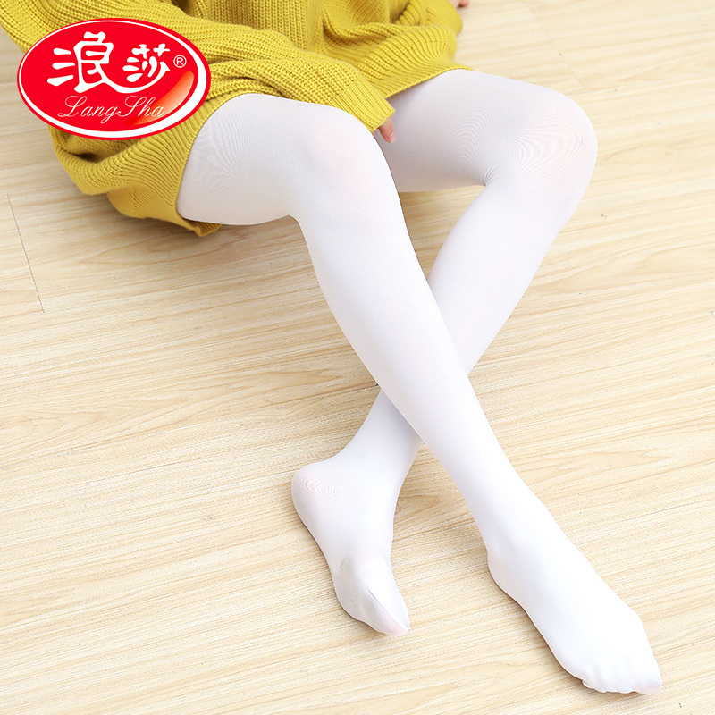 【2条包邮】浪莎白色丝袜女薄款连裤袜防勾丝春秋日系成人舞蹈护士学生打底袜 浪莎正品,低价促销