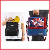 多层保温饭盒袋便当包双肩背包保温午餐包冰袋保鲜冷藏便携式冻包