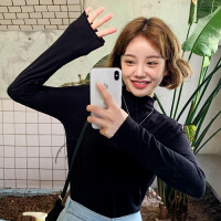 【1件3折61元】韩都衣舍2019韩版女装秋装新款打底修身百搭长袖毛针织衫EK9202囡