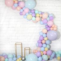 家居生活用品结婚布置儿童生日派对装饰气球链色系气球软拱门ins