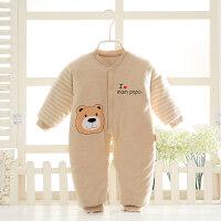 冬季婴儿衣服加厚连体衣棉衣宝宝哈衣外出服彩棉棉袄婴儿