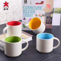 茶杯 创意陶瓷水杯马克杯子 女情侣杯环保瓷咖啡杯奶杯办公室2个装