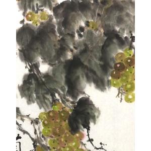 知名画家  周怀民 【葡香十里醉人 】65*32cm,纸本软片。品如图。