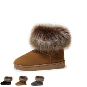 WARORWAR 2019新品YM155-8810-2冬季欧美平底鞋舒适女鞋潮流时尚潮鞋百搭潮牌雪地靴