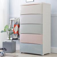 宝宝衣柜儿童抽屉式收纳柜子塑料自由组合储物柜婴儿整理箱五斗柜
